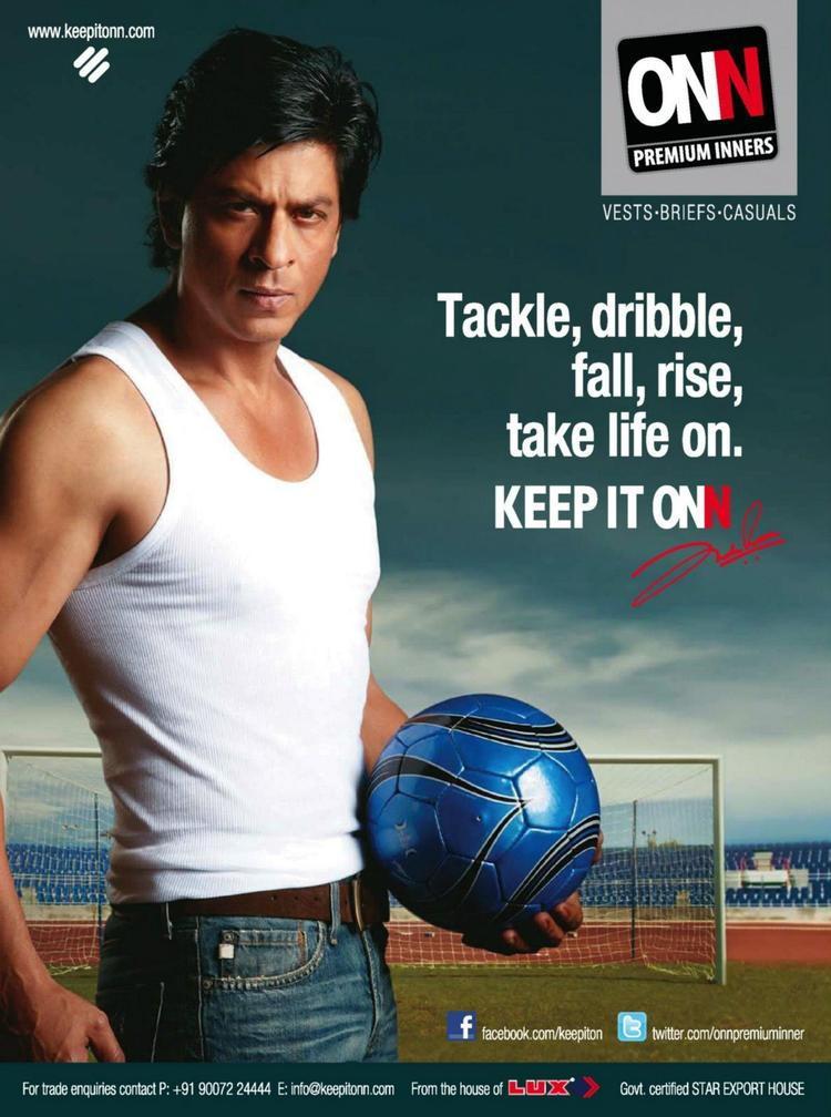 SRK Hot Body Show Sexy Look Photo Shoot For Lux Cozi Onn Print Ad
