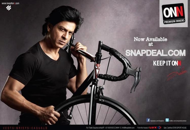 SRK Latest Photo Shoot For Lux Cozi Onn Print Ad