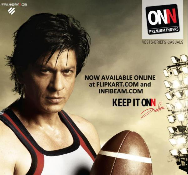 SRK Nice Look Photo Shoot For Lux Cozi Onn Print Ad