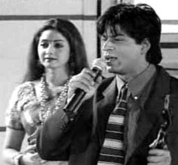 Shahrukh And Sridevi At A Awards Function