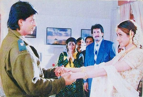 Shahrukh And Sridevi Cool Still From Army Movie
