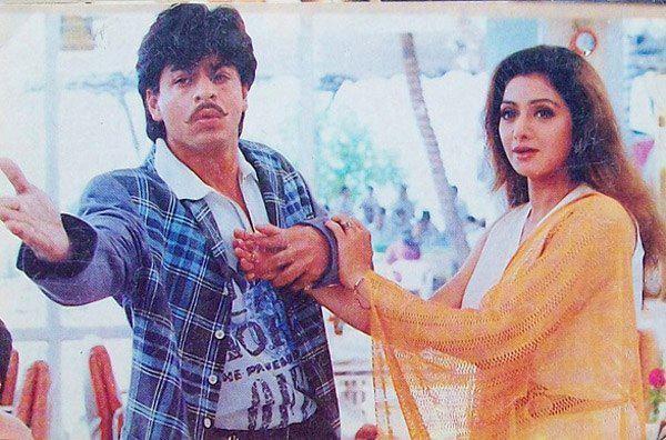 Shahrukh And Sridevi A Still From Army Movie