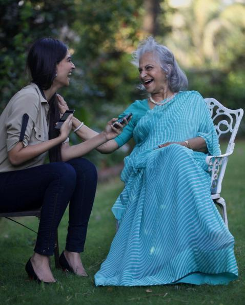 Sonam And Waheeda Cool Look Still During The Interview