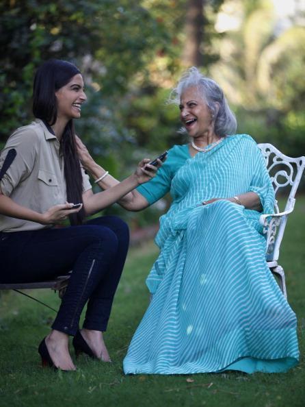 Sonam Take Interview With Waheeda Photo Still