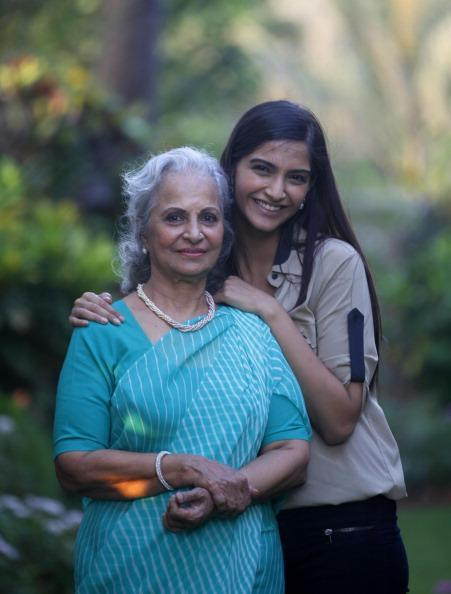 Waheeda And Sonam Strike A Cool Posed During The Interview