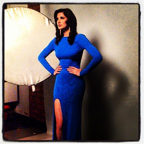 Nargis Fakhri In Blue Gown Hot Look Posed Still