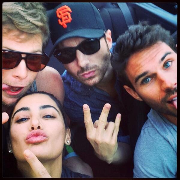 Nargis Fakhri Cool Pose With Friends Still