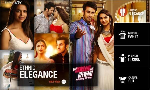 Ranbir And Deepika Different Pose In eh Jawaani Hai Deewani Movie Poster