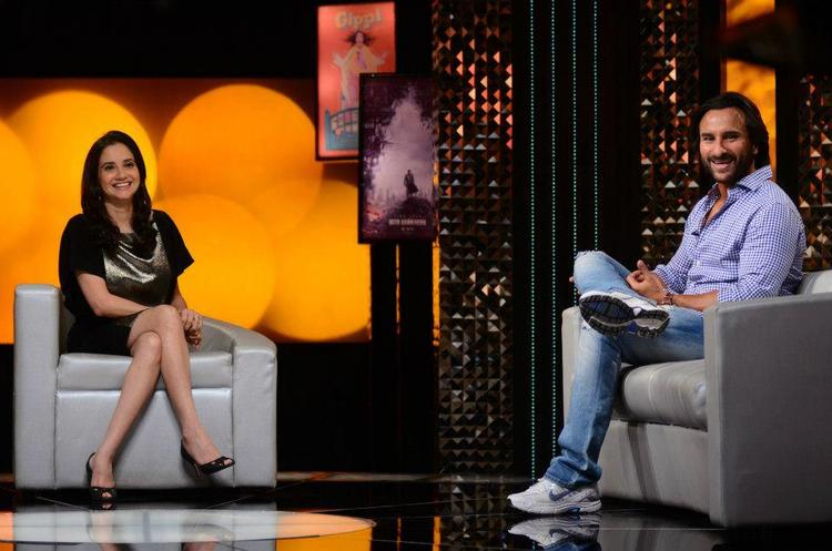 Saif Ali Khan On The Front Row With Anupama Chopra