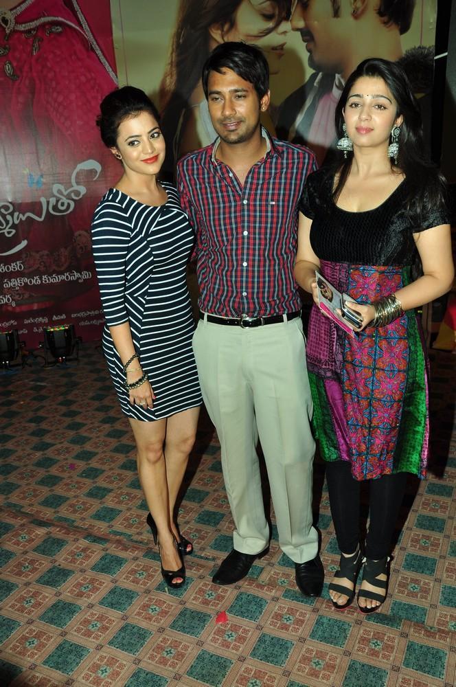 Nisha,Varun And Charmy Cool Posed At Saradaga Ammaitho Movie Audio Launch Function