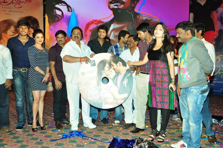 Sundeep,Nisha,Dasari Narayana,Allari,Varun,Charmy And Lyricist Chandrabose During The Saradaga Ammaitho Movie Audio Launch Function