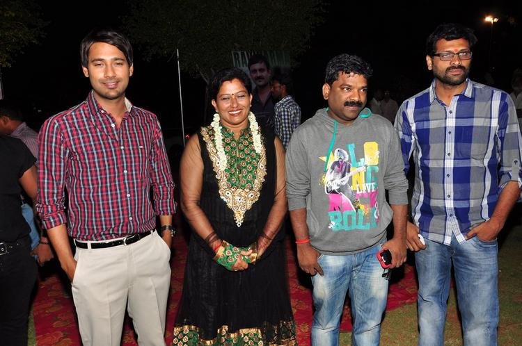 Varun,Suchitra And Hubby Chandrabose At Saradaga Ammaitho Movie Audio Launch Function