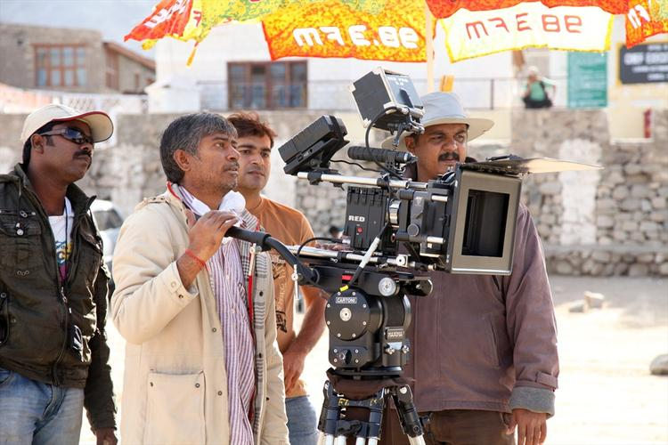 A Still Of On The Sets Of Sahasam Movie