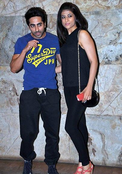 Ayushmann With Wife Tahira Posed At Bombay Talkies Special Screening Event