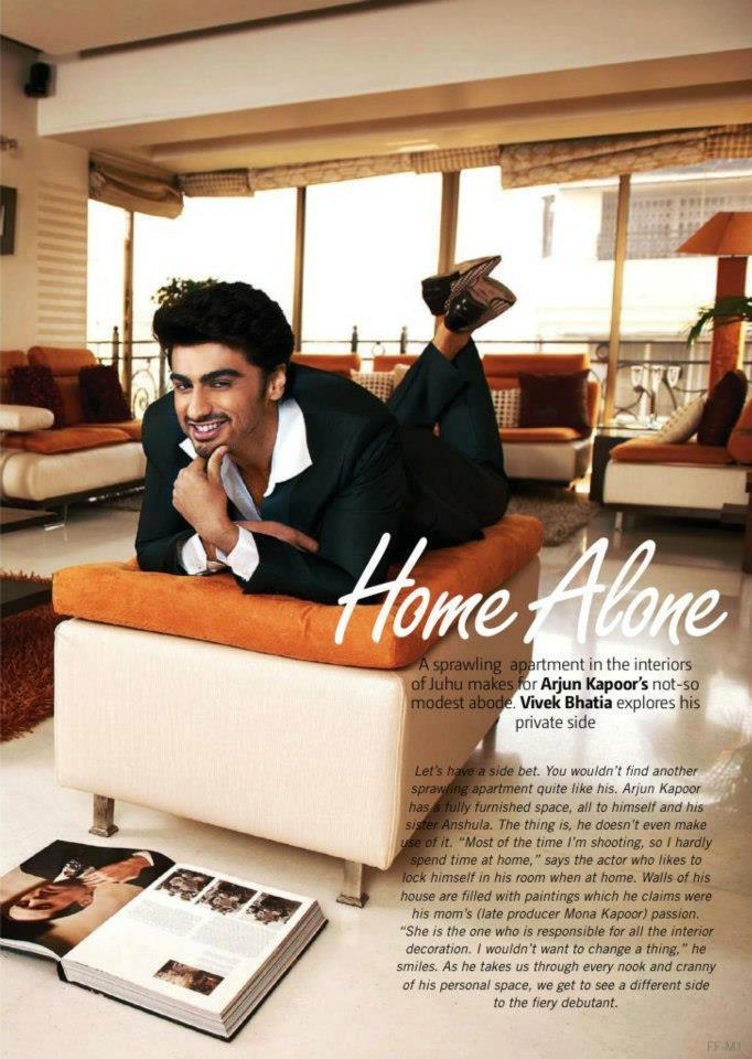 Arjun Kapoor Home Alone Page For Filmfare