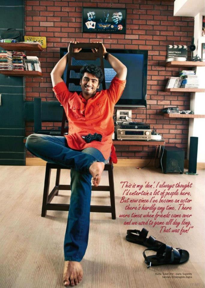 Arjun Kapoor Smiling Pic For Filmfare Magazine