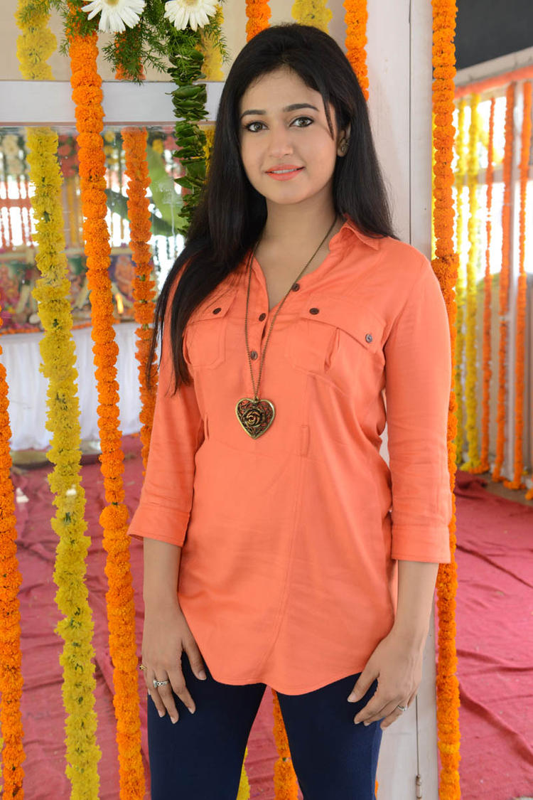Poonam In Orange Color Dress Beautiful Look At H Production Pro No.6 Movie Launch Event