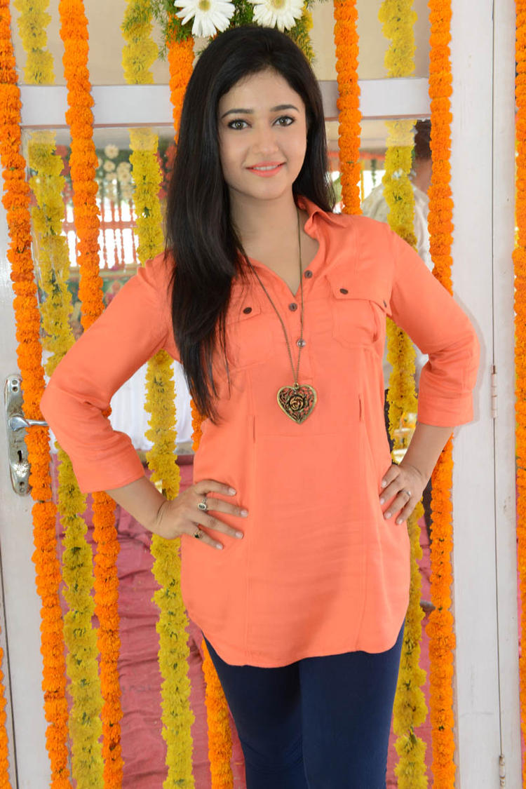 Poonam In Orange Color Dress Gorgeous Look At H Production Pro No.6 Movie Launch Event