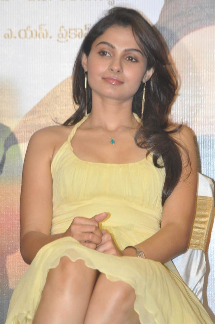 Actress Andrea Jeremiah Hot Stills At Tadakha Movie Press Meet