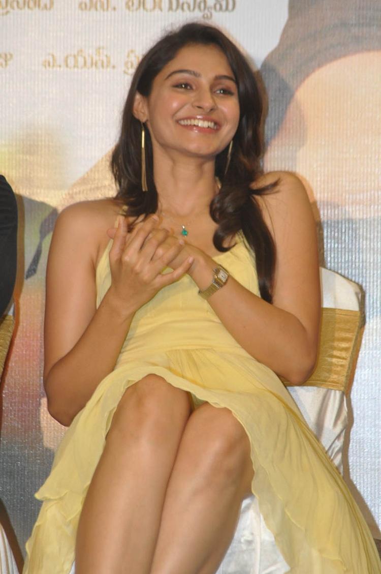 Andrea Jeremiah Smiling Photo  At Tadakha Movie Press Meet