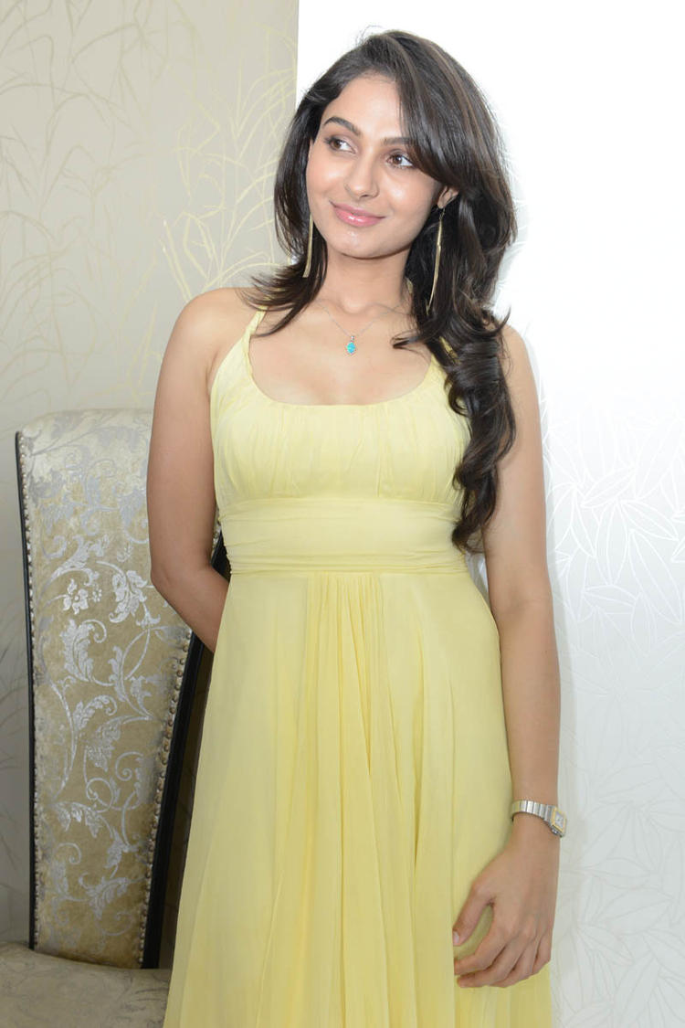 Andrea Simple Look Hot Stills At Tadakha Movie Press Meet