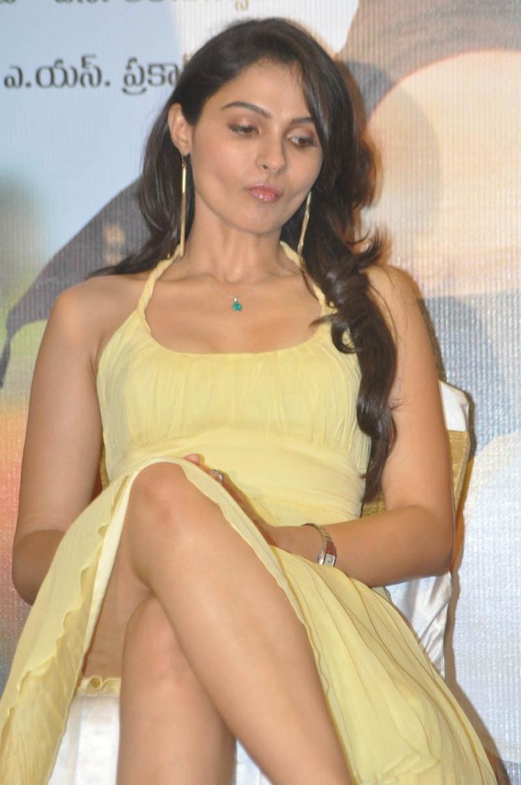 Jeremiah Yellow Dress Hot Photo At Tadakha Movie Press Meet