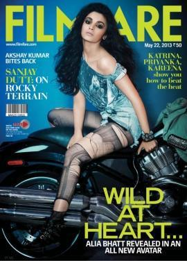 Alia Bhatt Latest Hot Avatar Pic For Filmfare May 2013 Issue