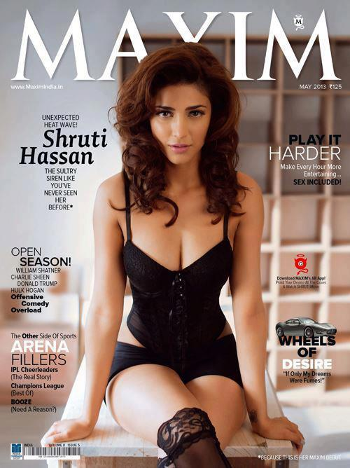 Shruti Haasan Stunningly Hot Look Photo Shoot For Maxim India Magazine May 2013
