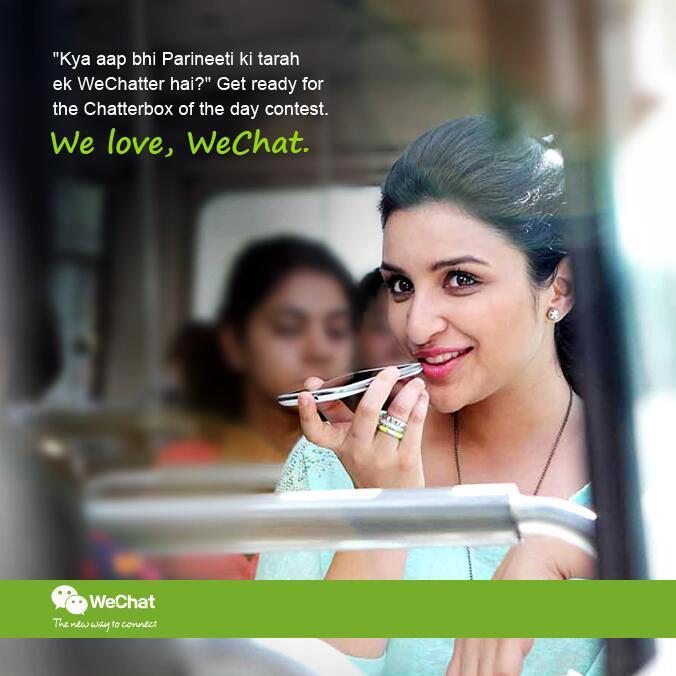 Parineeti Chopra Chatting Look In We Chat India TVC Ad