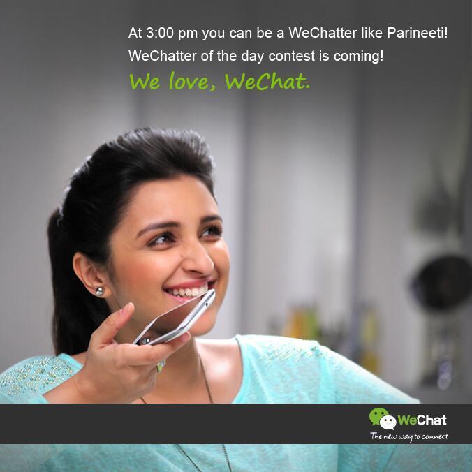 Parineeti Chopra Cute Smiling Look In We Chat India TVC Ad