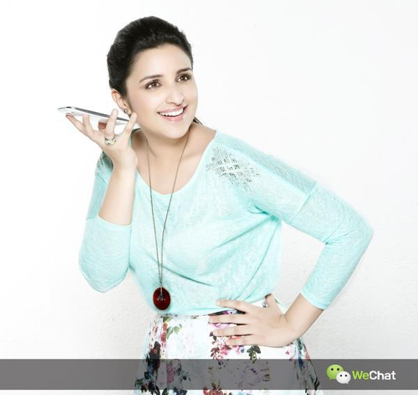 Parineeti Chopra Smiling Dazzling Look Photo Shoot For We Chat India TVC Ad