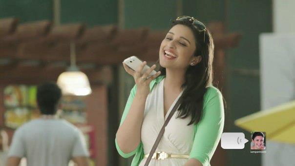 Parineeti Chopra Smiling Look Photo Shoot For We Chat TVC Ad