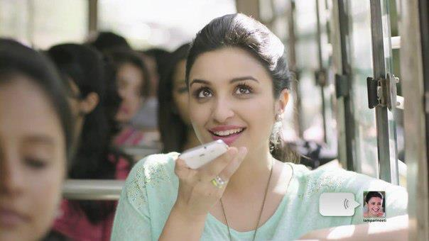 Smiling Parineeti Chopra Cute Face Look Photo Shoot For We Chat TVC Ad