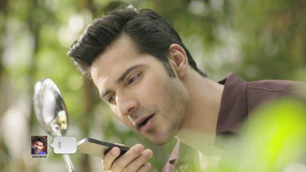Varun Dhawan Cool Chatting Look Photo Shoot For We Chat TVC Ad