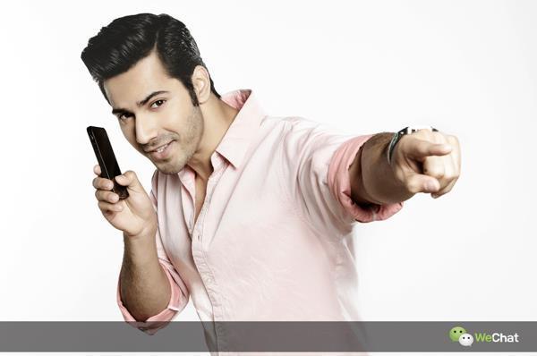 Varun Dhawan Stylish Look Photo Shoot For We Chat India TVC Ad