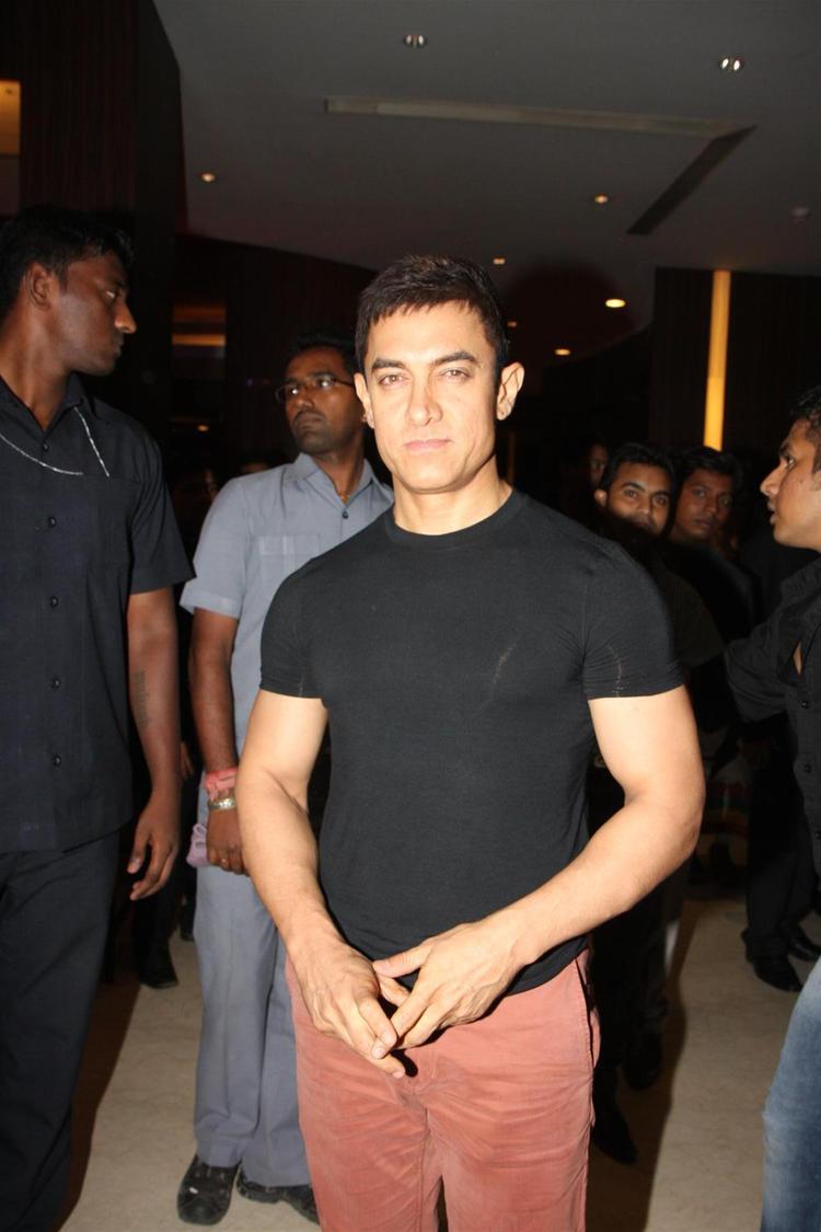 Aamir Khan Shoot During Yamla Pagla Deewana 2 Music Launch