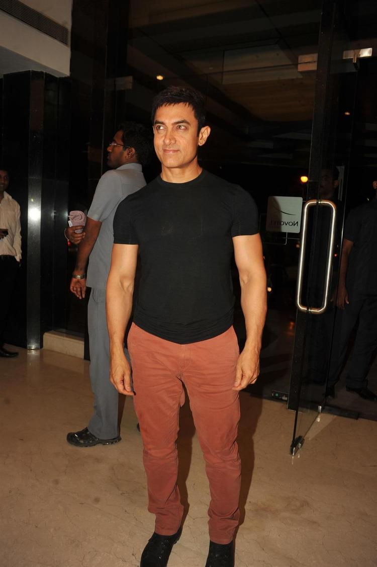 Aamir Khan Snapped At  Yamla,Pagla,Deewana 2 Music Launch