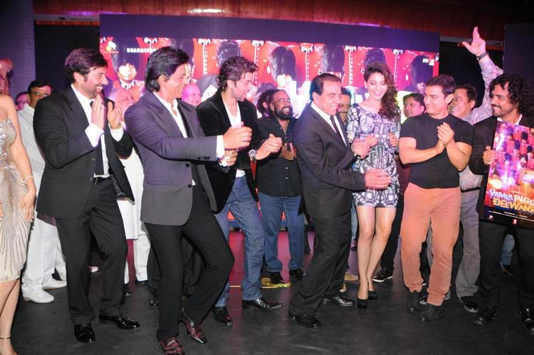 Bollywood Super Stars Dance During New Movie Yamla Pagla Deewana 2 Music Launch Event