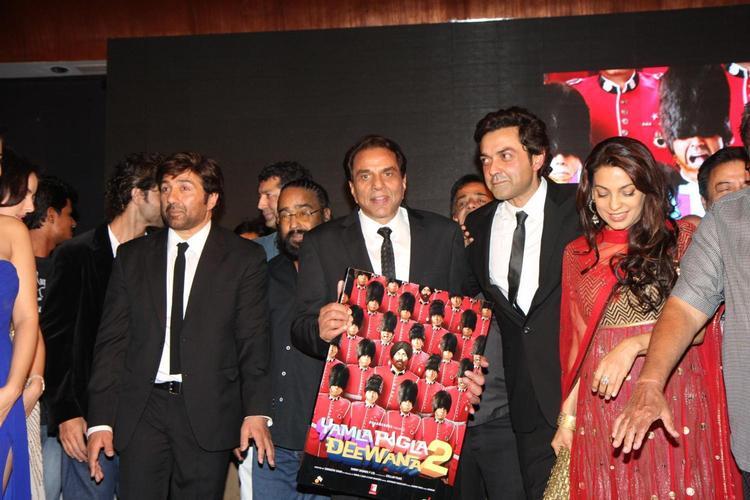 Dharmender Launches Yamla Pagla Deewana 2 Music