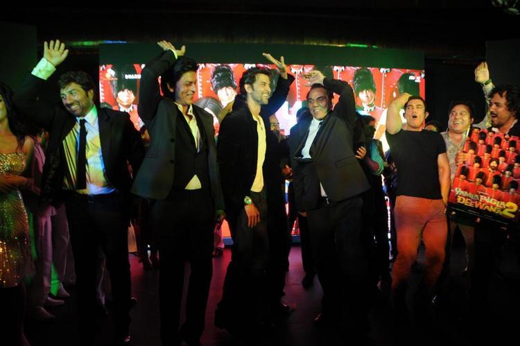Stars Dance During A Hindi Film Yamla Pagla Deewana 2 Music Launch