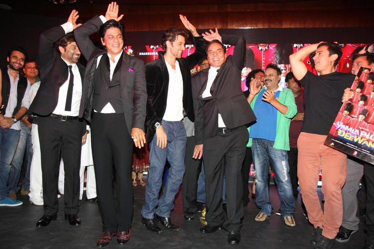 Stars Dancing During Yamla Pagla Deewana 2 Music Launch Event