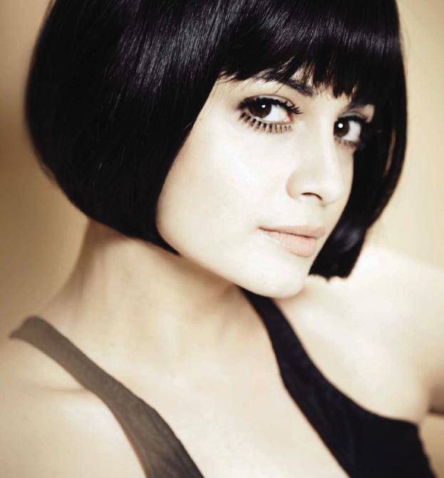 Dia Mirza Short Hair Style Hot Photo On Hello Magazine May 2013