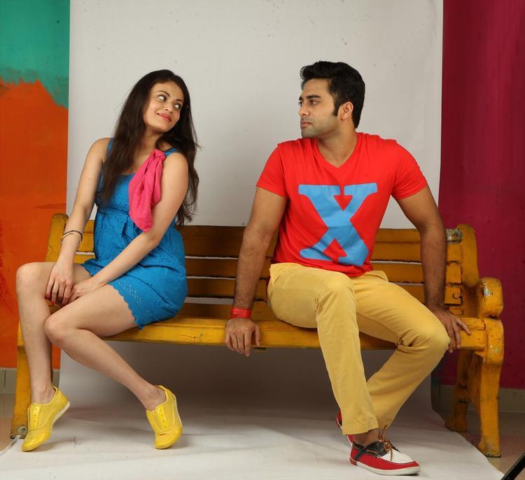Navdeep And Sneha Ullal Romance Still In  Antha Nee Mayalone Movie
