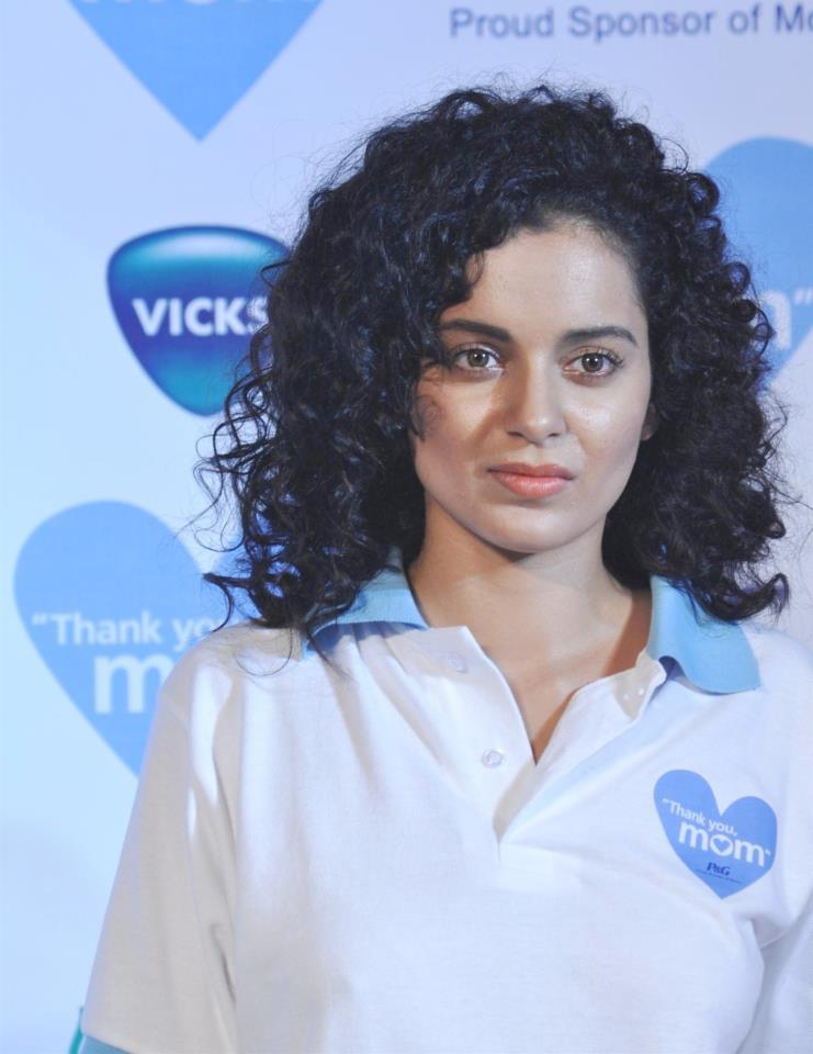Curly Hair Beauty Kangana Ranaut At The P And G Thank You Mom Campaign