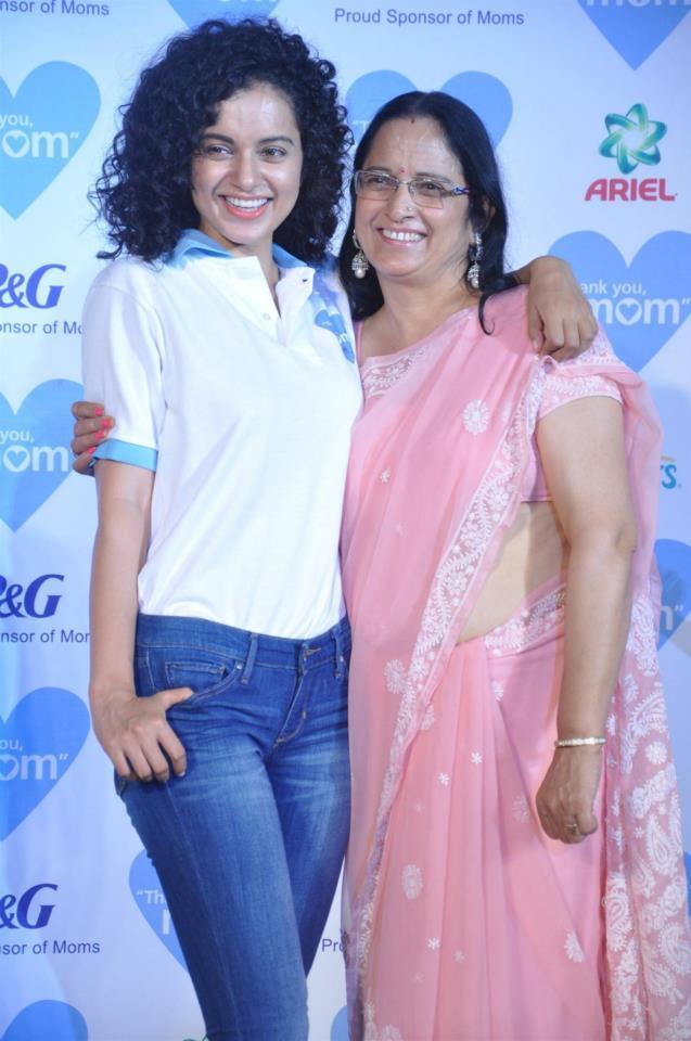 Kangana Ranaut With Her Mother Asha Ranaut At Mother's Day Celebration In Mumbai