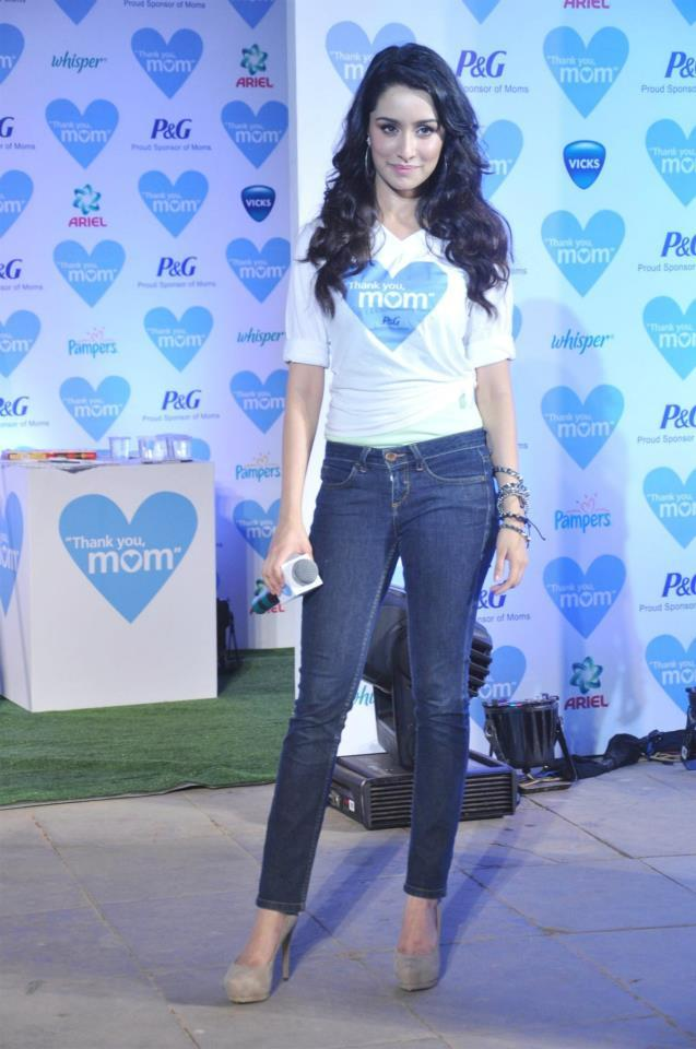 Shraddha Kapoor At The P And G Thank You Mom Campaign