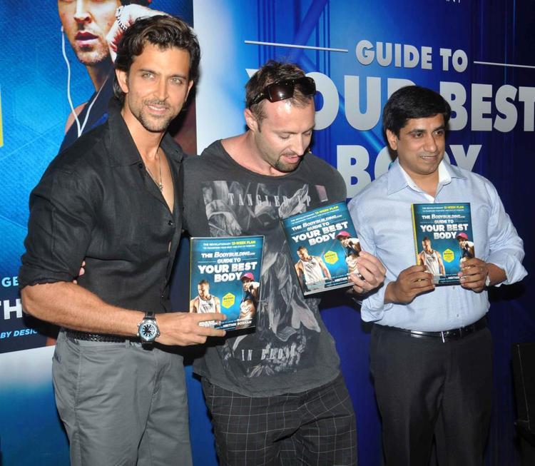 Hrithik And Kris Gethin At Fitness Book Your Best Body Launch Event