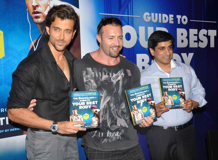 Hrithik And Kris Gethin Launches Your Best Body Book in Mumbai