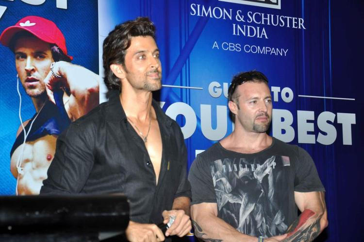 Hrithik With Trainer Kris Gethin At Fitness Book Your Best Body Launch Event