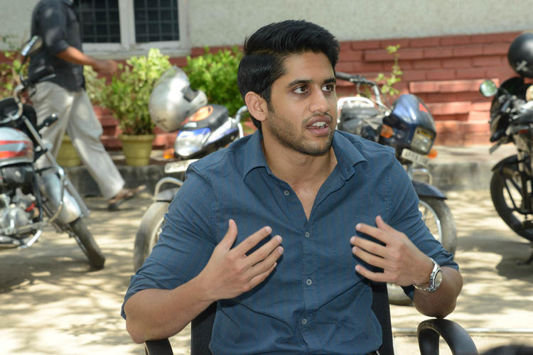 Naga Chaitanya Speaking Still During The Interview Of Thadaka Movie